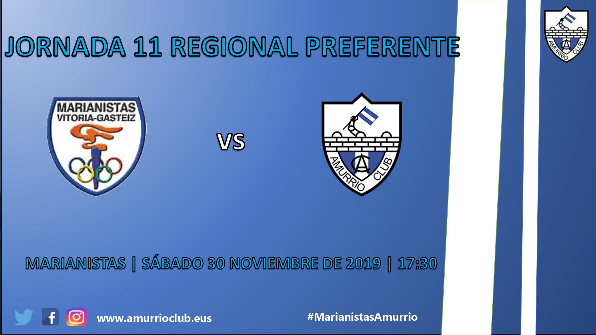 Horario del partido Marianistas - Amurrio club (11ª jornada).